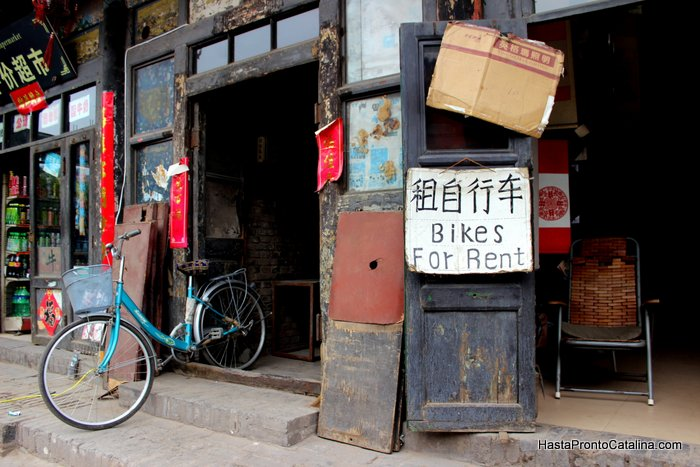Pingyao China bikes for rent