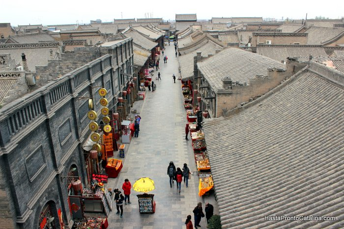 Pingyao China panoramica aerea