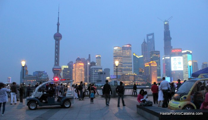 noche en the bund Shanghai China