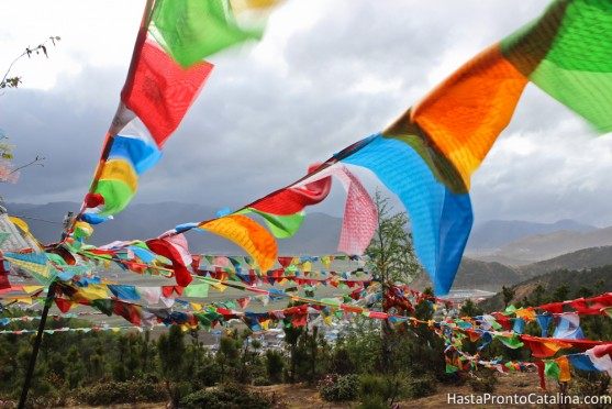 Banderas tibetanas, The Chicken Temple Shangri La, China